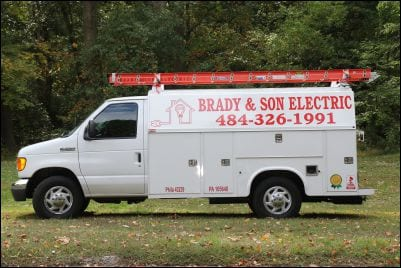 Brady Work Van | Local Electrician Near Drexel Hill PA